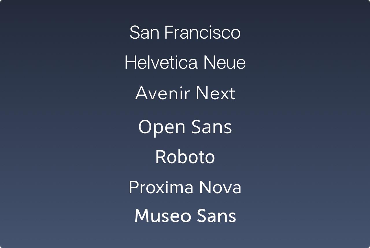 Typography-List