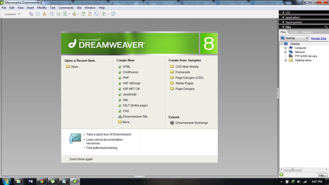 Macromedia Dreamweaver 8: краткий и полезный обзор