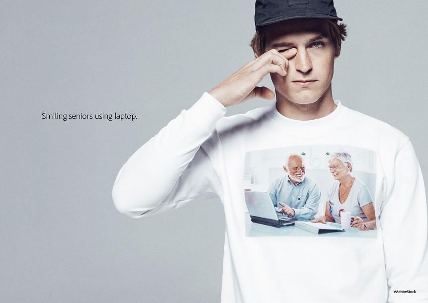 Нестандартний хід від Adobe: limited-колекція одягу для реклами сервісу Adobe Stock