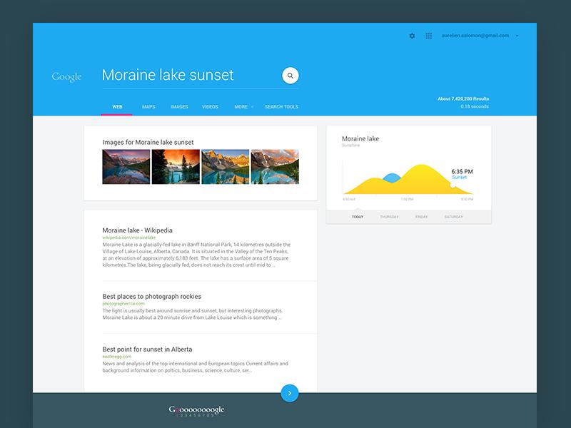 А вы уже видели поиск Google в стиле Material Design?