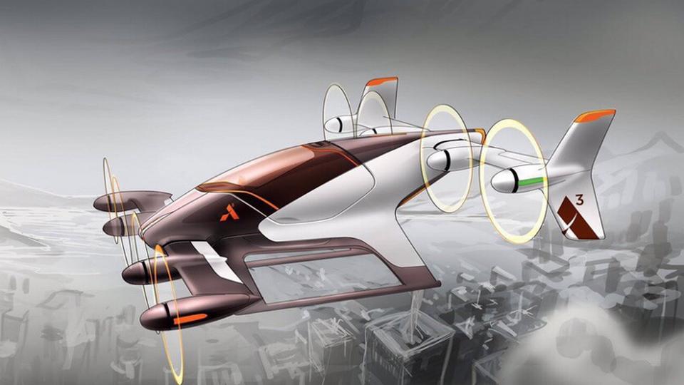 Летающее такси Vahana от Airbus: дизайнеры показали первые эскизы