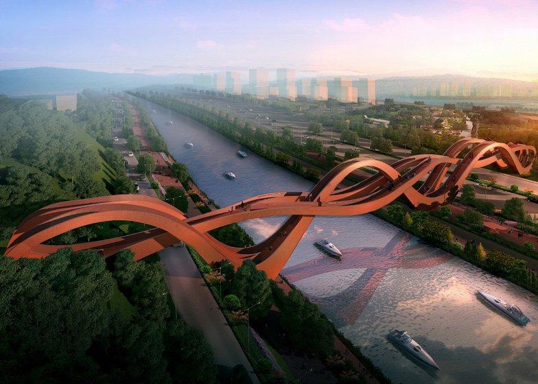 УНІКАЛЬНИЙ червоний міст Lucky Knot, у Китаї – для натхнення дизайнерів