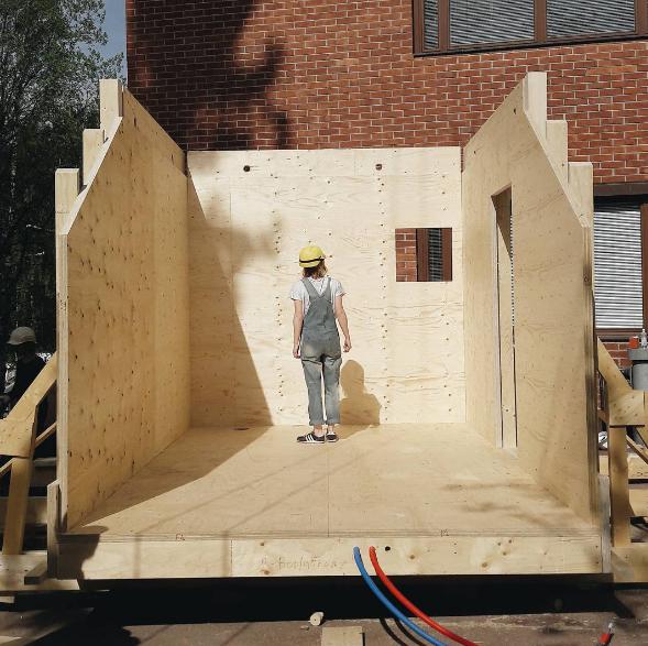 Дизайнерский дом Kokoon от студентов, построенный всего за 24 часа