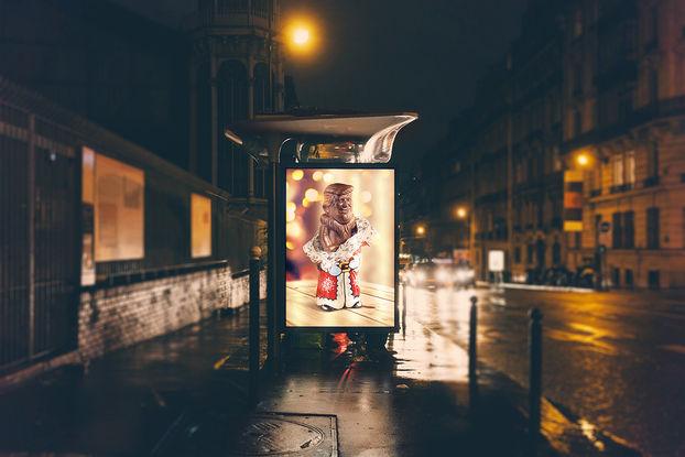 """""""Шоколадний Трамп"""": як рекламують Ле Сільпо у Харкові"""