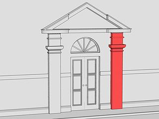 Шпаргалка по архітектурним термінам: капітель, корфорс,набірна колонка,пілястра, поребрик
