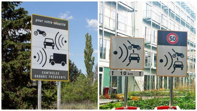 Во Франции кардинально изменили дизайн дорожных знаков