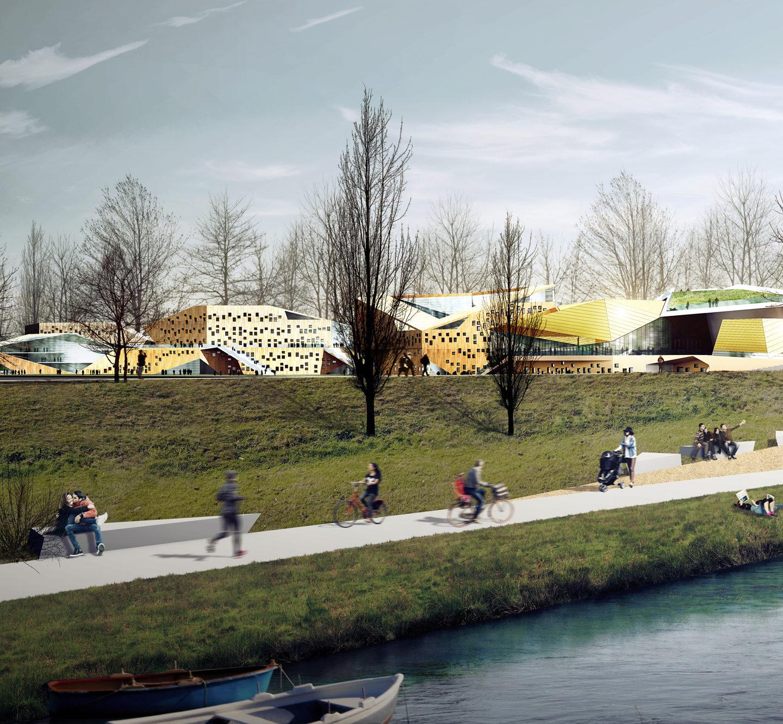 """Еко-дизайн: концепт музичної академії у Кракові, яка буде """"з'їдати"""" смог"""