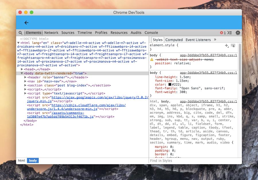 Зручні функції Chrome DevTools: красивий код і вибір кольору