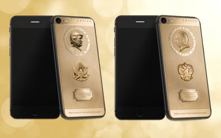 Кращий подарунок для російського патріота: золоті Путін і Трамп на айфонах
