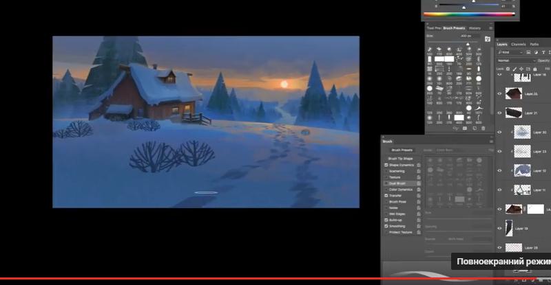 Как художники рисуют зимние пейзажи (ВИДЕО)