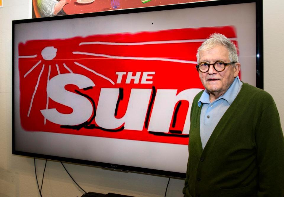 Кумедний редизайн для The Sun від всесвітньо відомого художника