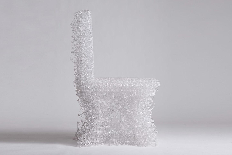 Стілець створений ручкою 3D-друку  – взірець футуристичного дизайну