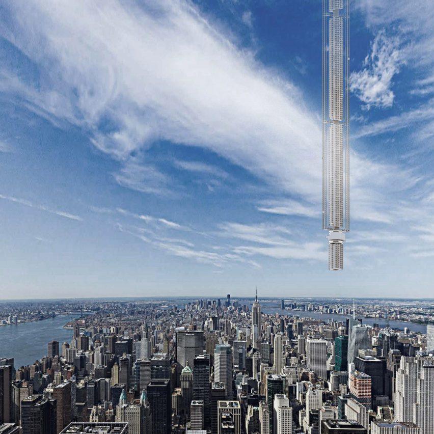 Фантастичний концепт: хмарочос, що звисає із небес