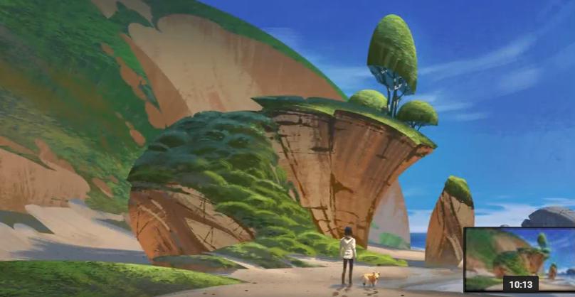 Как художники рисуют скалистые пляжи для игр (ВИДЕО)
