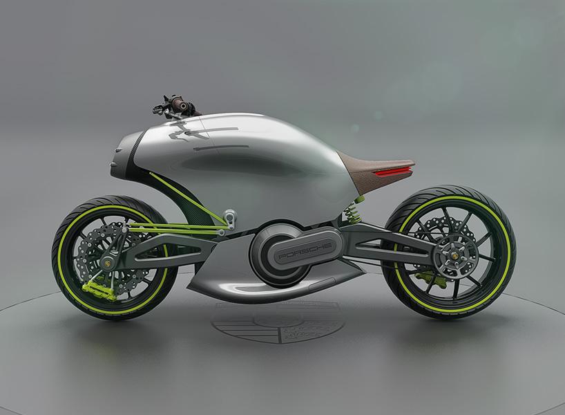 Крутий концепт електро мотоцикла Porsche 618