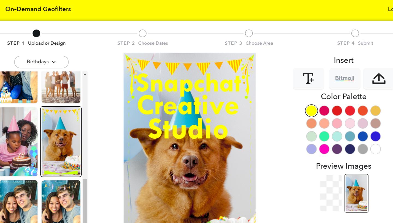 Snapchat запустив студію дизайну кастомних геофільтрів