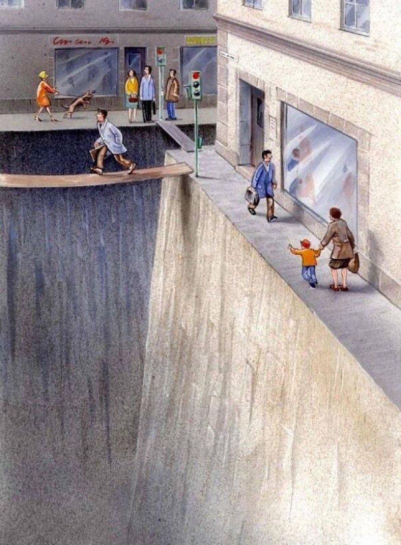 Шведский иллюстратор показал — как машины оккупировали наш мир