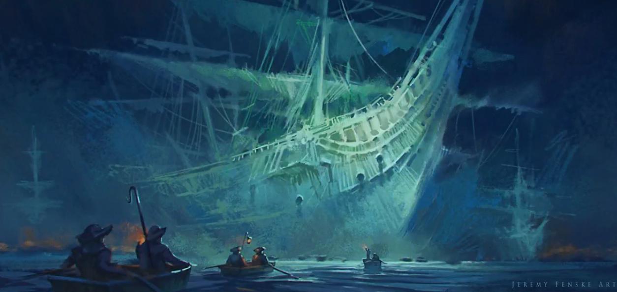 Как рисовать корабль-призрак для игр (ВИДЕО)