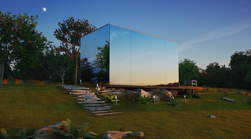 Замість дизайну будинка – дзеркало