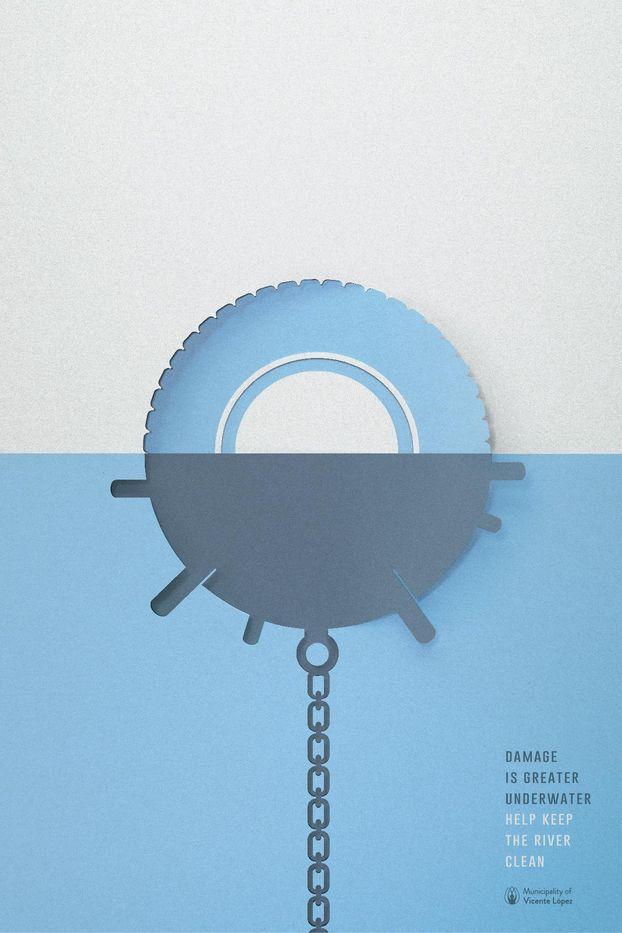 Креативний графічний дизайн – на захист води у Аргентині: бомби і міни