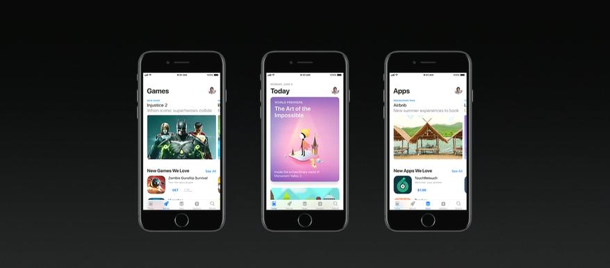 Apple повністю переробила дизайн App Store для IOS 11