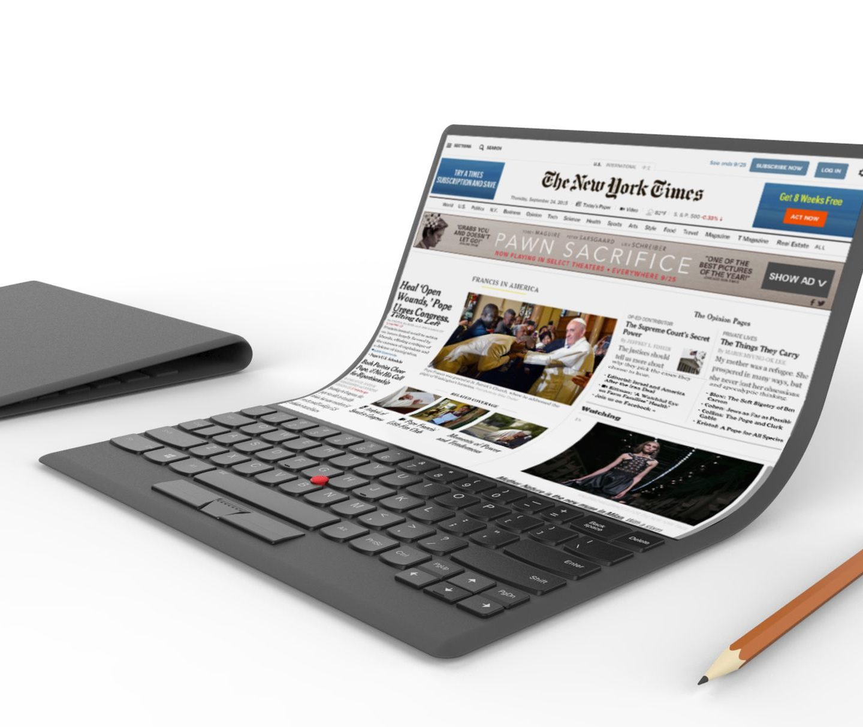 """Черговий """"гнутий"""" дизайн: Lenovo показала ноутбук, що гнеться"""
