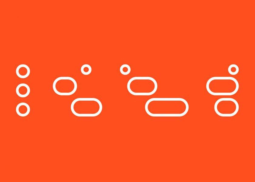 Класний логотип, що відображає мінливість людського спілкування