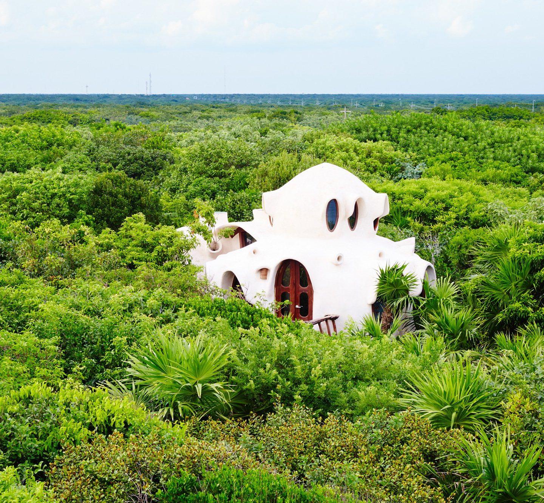 Еко-дизайн готелю у Мексиці: житло як у хобітів (Фото)