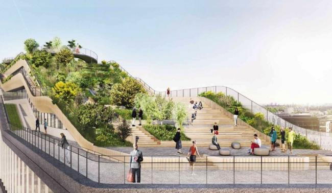 Офіс Google у Лондоні – 300-метровий парк на даху + футбольне поле (Фото)