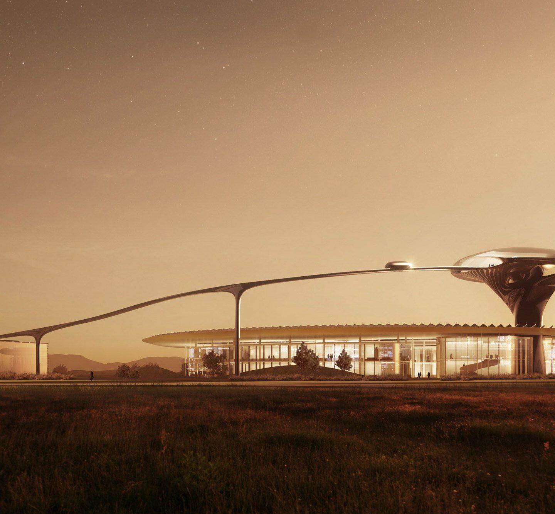 Марсіанський дизайн штабквартири Faraday Future