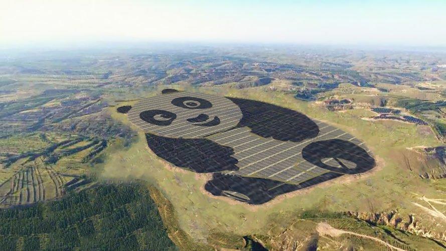 """У Китаї з'явилася гігантська сонячна """"електростанція-панда"""""""