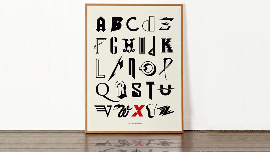 Рок-абетка – із літер логотипів музичних гуртів