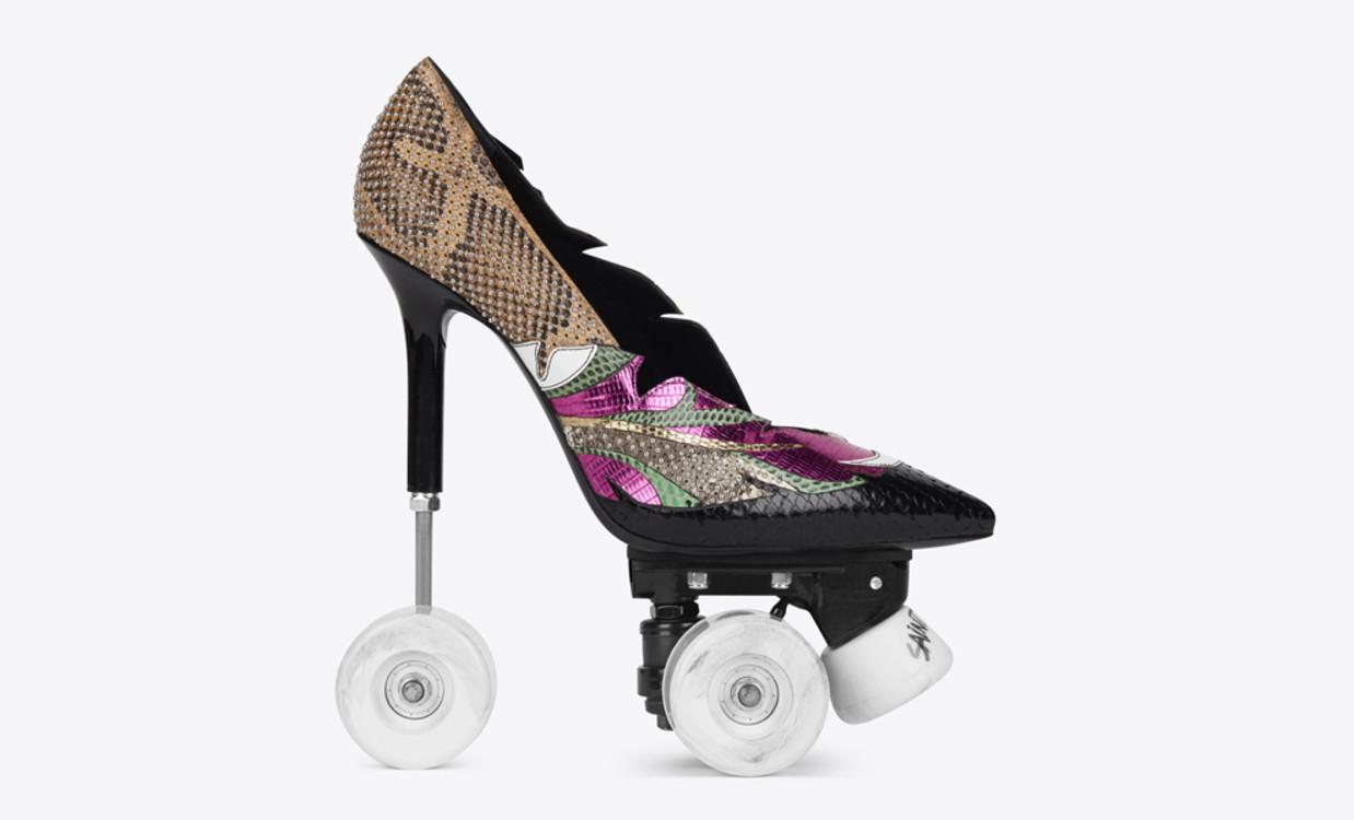 "Дизайн ""на колесах"": ролики на шпильках від Saint Laurent за £1995"