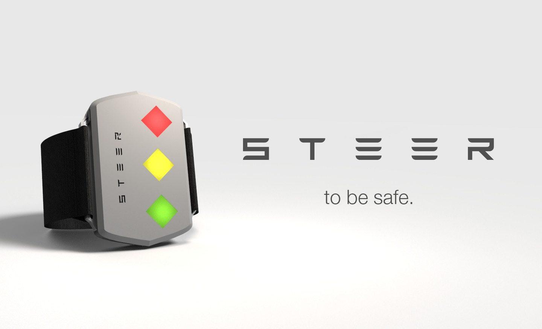 Steer: стильний браслет для водіїв, що не дасть вам заснути за кермом (Фото)