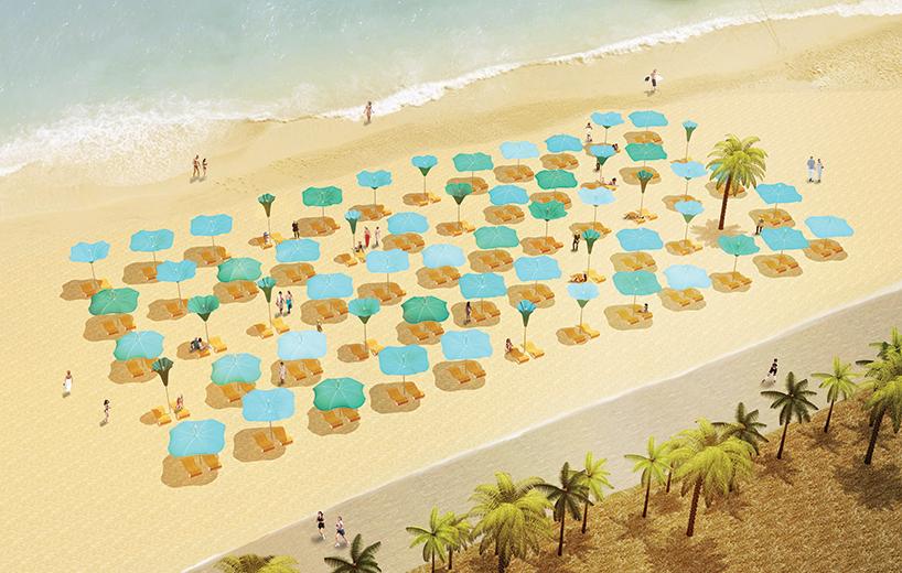 Як квіти надихнули дизайнерів на унікальні пляжні парасольки