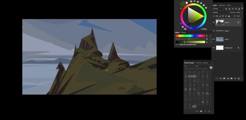 Как рисовать пейзаж (Видео)
