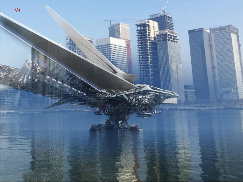 Фантастичний дизайн рухомого мосту, який побудують у Китаї (Фото)