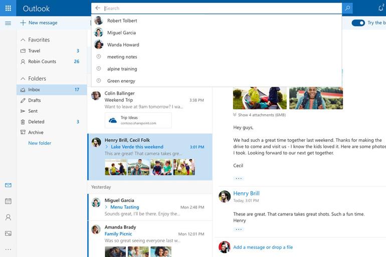 Microsoft оновила дизайн Outlook