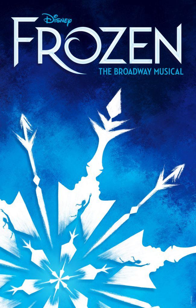 Постер для м'юзиклу Frozen із чудовим використанням негативного простору