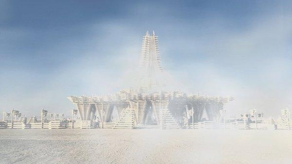 Дивовижний палаючий храм Burning Man 2017 (Фото)