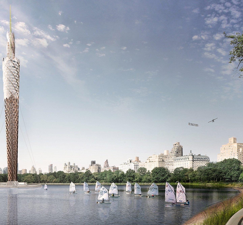 Еко-дизайн: ідея для дерев'яної башти в Нью-Йорку (Фото)
