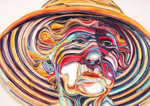 Неймовірні роботи художниці – 3D картини із шматочків паперу (Відео)