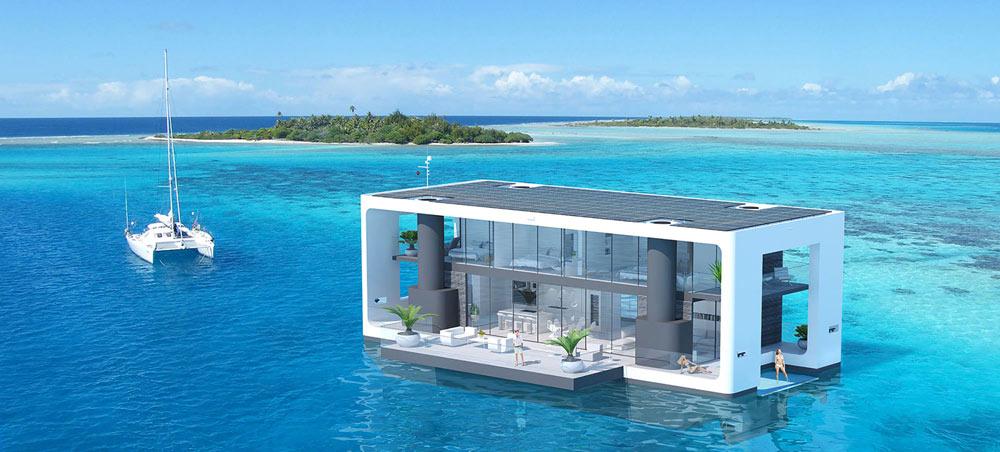 """Фантастика: плаваючий будинок для """"глобальної катастрофи"""" (Відео)"""