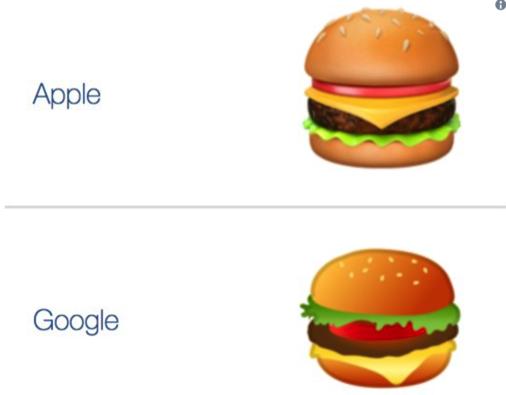 Apple vs Google: смішний батл емодзі-бургера між дизайнерами