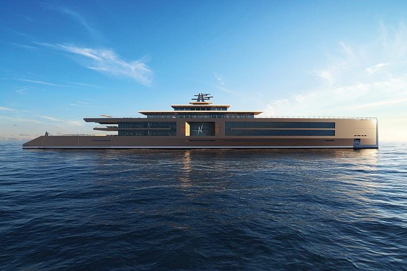 """""""Мінімалістична"""" гігантська яхта з садом, що більше схожа на готель (Фото)"""