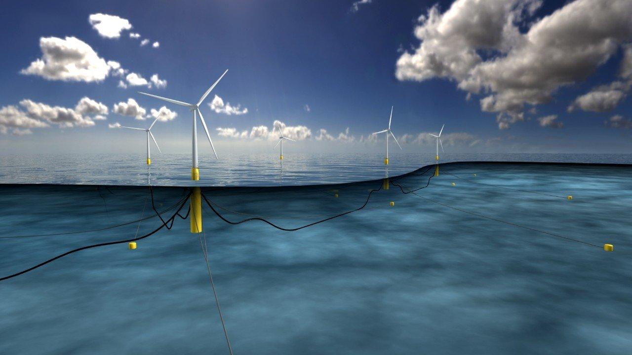 Як виглядає перша у світі плаваюча вітряна електростанція (Відео)