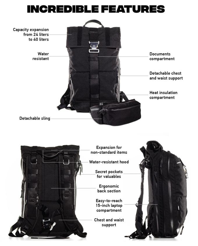 Новий успіх українців на Kickstarter: ергономічний смарт-рюкзак HURU