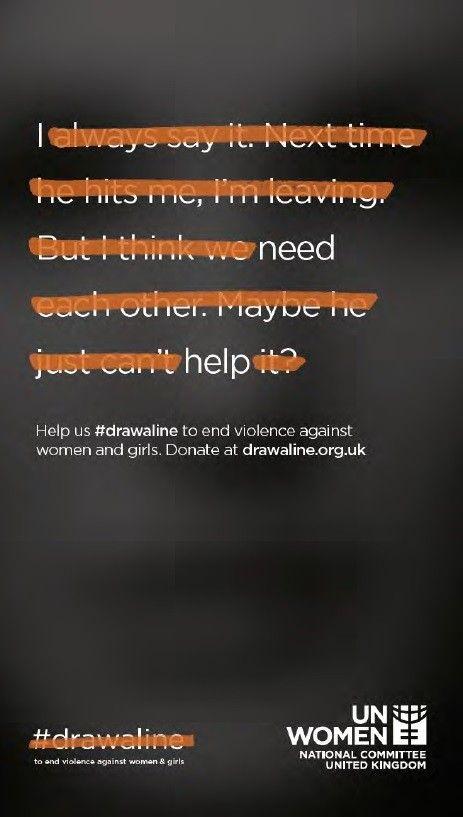 Яскравий постер проти насильства над жінками – у Британії