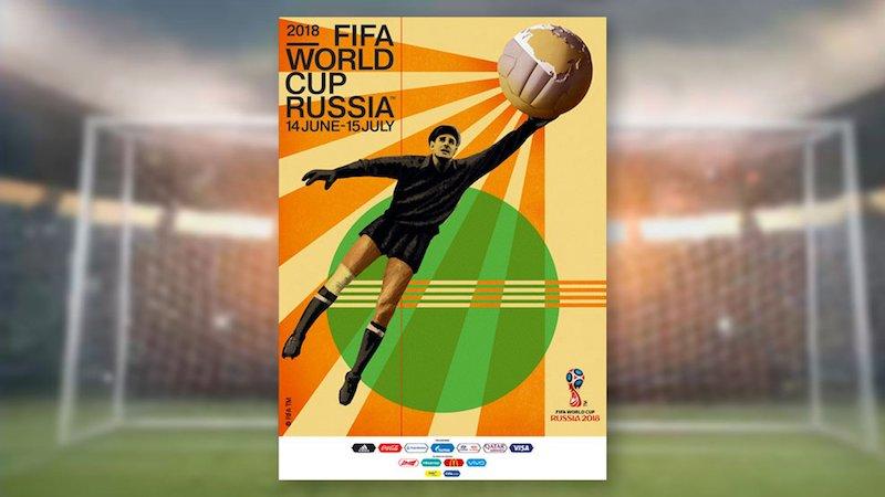 Офіційний постер ЧС-2018 з футболу: і знову дизайн СССР