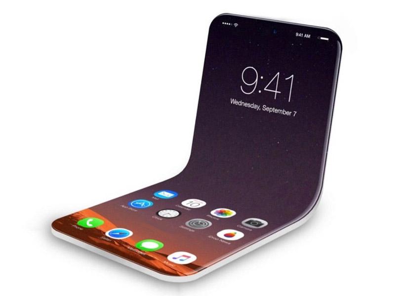 Apple запатентувала смартфон, що згинається навпіл (Фото)